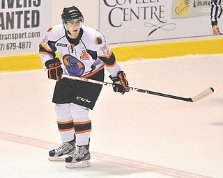 Youngstown Phantoms forward JT Stenglein is the first Phantom to be penalized in the USHL's crackdown against concussions for delivering a hit on a Cedar Rapid Rough Rider during a post-whistle scrum during their Oct. 5 meeting.