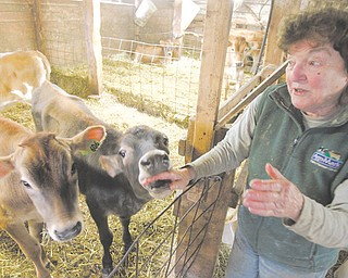 Farmer Sally Goodrich talks about her farm in Danville, Vt. The failure by Congress to act on a farm bill before the election recess has put small dairy farms in limbo.
