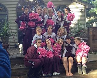 The Boardman cheerleaders before the Jackson game!