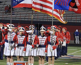 Fitch color guard during star spangled banner