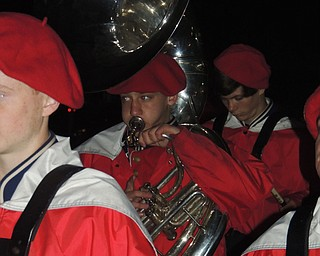 Fitch tuba player playing post game