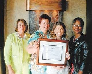 The Mahoning County Medical Society Alliance received a Prestige Award from the