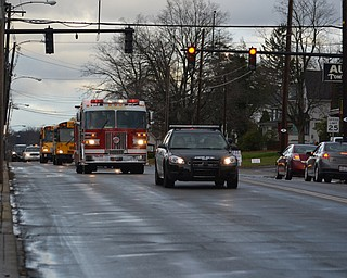 Hubbard's football team was escorted through Hubbard Saturday afternoon by Hubbard City Police Dept, Hubbard Township Police Department and Hubbard's Joint Fire District on their way to play Niles in the Div. 3 Regional 9 playoff game. Thanks safety forces!