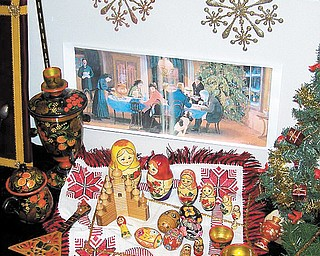 Christmas art and artifacts from Russia at the Sutliff Museum.