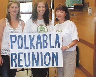 A great joy this year for Mike Polkabla of Girard was seeing his cousins at the Polkabla reunion. He hadn't seen them for a long time.