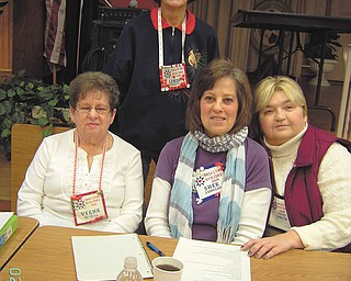 Ohio Star Quilters installed 2013 club officers and began the group's monthly meetings recently. Standing is Linda Kristo, secretary; and seated, from left, are Verna McNeill, treasurer; Sherril Johnson, first vice president; and Missy Shaffer, president. The group meets at 9:30 a.m. on the first and third Wednesdays of the month at Howland S.C.O.P.E. Senior Center. Its purpose is to practice the art of quilting excellence through education. All are welcome to attend. Large and small projects are planned and taught throughout the year. Members will sponsor their 26th annual Quilter's Day Out on May 1 at DiVieste Banquet Room, 754 North River Road, Warren. The speaker will be Karen Phillips Scwallen, and there will be vendors. Coffee, juice and roll, luncheon, a display of quilts and smaller items, and a 50-50 raffle also will be available. Entry donations are $25 per person, and tickets will be on sale beginning Feb. 1. For tickets call 234-414-7001.
