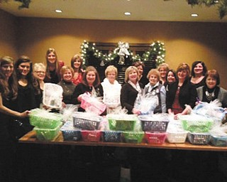 Austintown Junior Women's League chose the Touched by Nathan Foundation for its holiday giving this year. Members donated items to fill 25 comfort care baskets for parents of fragile babies during their stay at Akron Children's Hospital at the Beeghly Campus special-care nursery and the St. Elizabeth Neonatal Intensive Care Unit. The league is a volunteer nonprofit group of women founded in 1994 for the purpose of having a creative outlet for women interested in giving community service in areas of art, conservation, education, home life, international affairs and public affairs. For information on the Touched by Nathan Foundation visit touchedbynathan.org. For information on the Austintown Junior Women's League email or mail Theresa Lyden, president at tllmt@yahoo.com or P.O. Box 4882, Austintown, OH 44515.