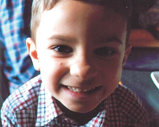 Here's a close-up of J.J. Stevens, 5, of Mineral Ridge, at a birthday party. He's the son of Maria Alfano Stevens and David Stevens. Photo sent in by Ellie Alfano.