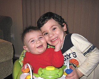 Jennifer Raspanti of Poland sent in this photo of her sons, Vincent and Luca Raspanti, hoping it will put a smile on other people's faces, too.