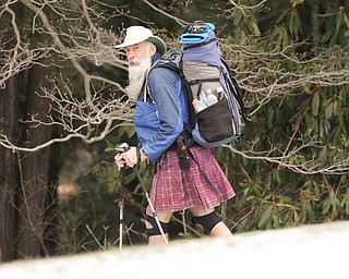 Richard Ostheimer, 67, of Youngstown is one of 200 people to hike the Appalachian Trail, the Pacific Crest Trail and the Continental Divide Trail.