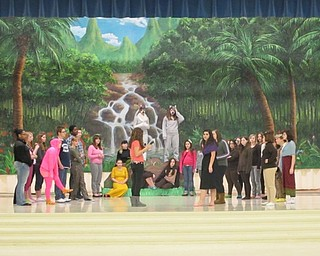 "Neighbors | Natalie Scott.The cast of the Austintown Middle School production of ""The Jungle Book"" by Rudyard Kipling rehearsed a scene prior to play week Feb. 22."