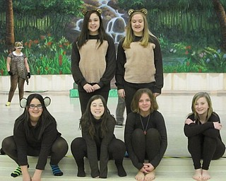 "Neighbors | Natalie Scott.Monkeys from the Austintown Middle School production of ""The Jungle Book"" hung around together during rehearsal Feb. 22."