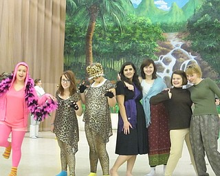 "Neighbors | Natalie Scott.A group of drama students show off their costumes for the Austintown Middle School production of ""The Jungle Book"" Feb. 22."