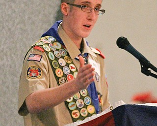 Eagle Scout Marcus Masello of Boardman, a student at Boardman High School, spoke at the event. Other speakers were Perry Chickonoski, 2013 Golden Eagle honoree, and Don Groszek, president of Boy Scouts of America Greater Western Reserve Council.