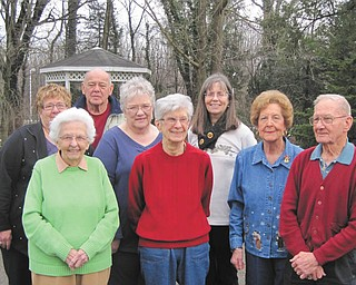 SPECIAL TO THE VINDICATOR Niles Historical Society recently elected officers for 2013. Pictured are, in front from left, Ruth Van Huffel, assistant secretary; Betty Whitney, trustee; Nancy Malone, president; and Frank Burke, assistant treasurer. In back are, Sandy Bilovesky, vice president; Fremont Camerino, trustee; Letha Pihonsky, secretary; and Patricia Burgess-Fisher, treasurer. Not pictured is Roselyn Watson, trustee.