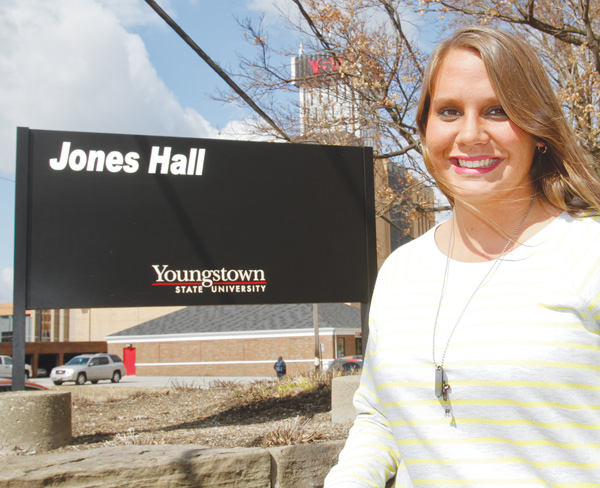 Marcy Angelo, a third-year geology student at YSU, recently founded the Youngstown Shale Energy Organization with fellow students Lauren Tadla and Sarah Perrine.