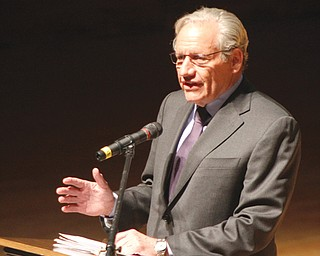 Bob Woodward of the Washington Post talks about politics, the presidency and journalism Thursday at Stambaugh Auditorium.