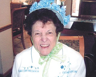 A family friend sent us this picture of Theresa Andio of Boardman in her Easter bonnet.
