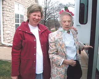 Dorothy Popio of Struthers is with her mother, Ann Bassetti (also mother of Vindicator sportswriter John Bassetti). A special friend sent this in.