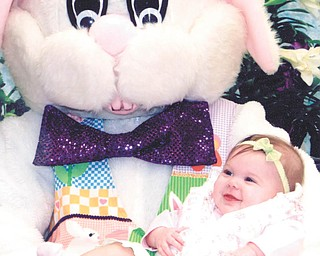 Lillian Clowser was 6 months old when she first met the Easter Bunny in 2011.