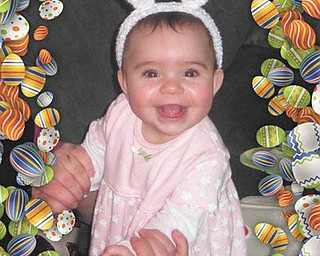 Gianna Carlucci of Akron beams in her bunny ears. Photo taken and sent in by Sandi Muir of North Jackson.