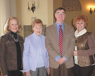 SPECIAL TO THE VINDICATOR Stambaugh Pillars recently met and elected officers for 2013. They are from left, Kay Fuller, recording secretary; Barbara Tinkham, treasurer; Karl Roach, vice chairman; and Cathy Campana, chairman. Not shown is Kathleen Rickert, corresponding secretary.