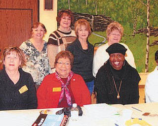 SPECIAL TO THE VINDICATOR Trumbull County Federated Democratic Women's Club card party committee is making plans for the annual card party. Seated from left are Cindy Gorse, vice president; Fran Wilson, president; and Helen Rucker and Fran Koroni, committee members; and standing are committee members, Jeanne Victor and Marie Persin; Julie King, co chair; and Joann Murphy, committee member. The annual card party will be from 2 to 5 p.m. April 21 at Christ Episcopal Church, 2627 Atlantic Ave. NE, Warren. The cost is $7. For tickets or information call 330-638-2775 or 330-372-6339.