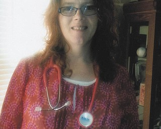 """""""She went above and beyond the call of duty and always had a smile on her face when I knew she was exhausted ... has a heart of gold ... definitely an angel of mercy,"""" are just some of the comments praising nurse Kim Welsh of McDonald. Welsh was supervisor to Myrtle Banks of Youngstown, who sent in this photo, and provided extra care and compassion when caring for Myrtle's husband, Robert."""