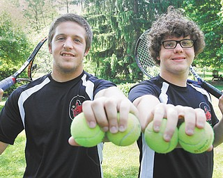 The Canfield tennis doubles team of Nick Debiec and Will Brown are the No. 2-seed going into today's Division I district tennis meet at Oberlin College.