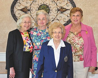 SPECIAL TO THE VINDICATOR The Youngstown Area Federation of Women's Clubs recently presented four women with gold pins for their 50-year membership. From left are honorees Kathleen Rickert, Ann Hill, Dorothy Schwers and Judy Robinson.