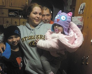 """Feel the love! Here are Logan Skica, Aunt Erica Skica, Grandfather Dan Skica (everyone calls him """"Pops"""") and Giana Skica. Siblings Logan and Giana are from Austintown, and Erica and Pops live in Youngstown. Photo sent in by Debbie Skica."""