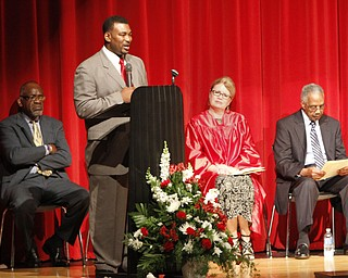 ROBERT K. YOSAY  | THE VINDICATOR  Mr  DeMaine Kitchen - Mayors chief of staff.. was commencement speaker  Chaney Campus High School Commencement Ceremony graduates 31