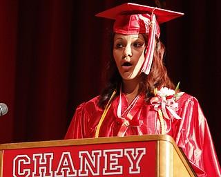ROBERT K. YOSAY  | THE VINDICATOR  Valedictorian Drucella Garcia - Chaney Campus High School Commencement Ceremony graduates 31