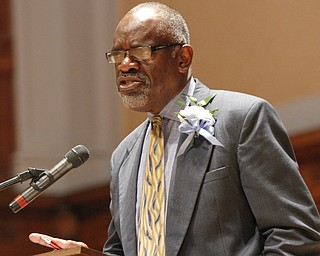 ROBERT K. YOSAY  | THE VINDICATOR  Connie Hathorn - tells the students whats ahead. and to persevere    169 members of the East High School Class of 2013 who received their diplomas Thursday during the commencement ceremony at Stambaugh Auditorium.