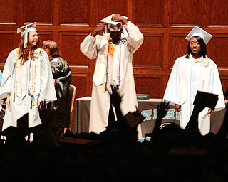 ROBERT K. YOSAY  | THE VINDICATOR   169 members of the East High School Class of 2013 who received their diplomas Thursday during the commencement ceremony at Stambaugh Auditorium.