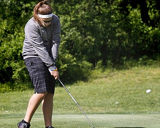Greatest Golfer of the Valley junior qualifier, Kaylee Neumeister, golfs at Pine Lakes Golf Club in Hubbard on May 25, 2013.