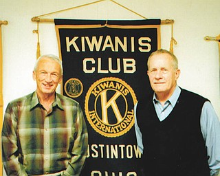 SPECIAL TO THE VINDICATOR The Austintown Kiwanis Club recently installed a new member, David Schnurrenberger, at right, sponsored by Dr. David Ritchie. He is a lifelong resident of Austintown and is retired. The club meets weekly at noon Wednesdays at Austintown Community Church. For information call 330-792-1129.