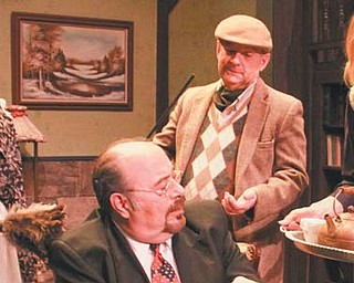 """From left, Holly Ceci, Victor Garcia, Russ Nalepa and Jamie Bucher in a scene from the Youngstown Playhouse's production of """"George Washington Slept Here."""""""