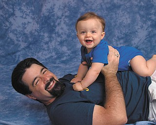 These two happy guys are Michael Restaino and his son Giorgio. Barbara Restaino sent the picture of her husband and son.