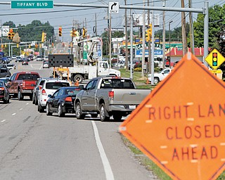 Lane closures both east and west on U.S. Route 224 create backups near the intersection with Interstate 680 last week. Get ready for worse. Extensive road work beginning in July will see more closures and longer delays at the same location.