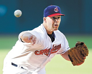 Indians starting pitcher Justin Masterson held on for 6 1⁄3 innings to help lead the Indians over the Kansas City Royals, 6-3, during Wednesday's game at Progressive Field in Cleveland.