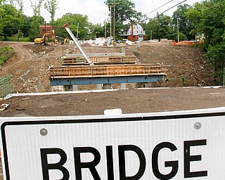 Marucci & Gaffney Inc. of Youngstown is replacing the city's Elm Street Bridge over Crandall Run, which carried a daily average of more than 7,000 vehicles. The 94-year-old bridge closed March 4, and its replacement is scheduled to open in mid-November, when the $2.3 million project is completed.