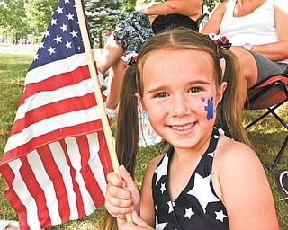 Lauren Smallwood of Canfield, celebrating the Canfield 2012 4th of July parade. Submitted by her mom, Jennifer Smallwood.
