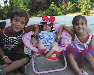 Taken July 4, 2012, this picture features Carmine White, 6, Lucia White, 5 months, and Gemma White 3, all of Canfield. Taken by their mother, Joanna White.