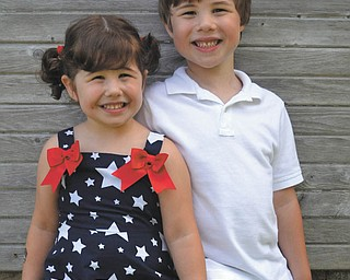 Adalyn and Toby Sell, siblings of  North Lima, sent by their mom, Tiffany Sell.