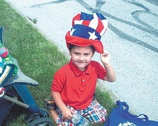 Sam Sargent of Struthers, sent by his mom, Tanya Sargent.