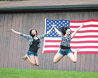 Sisters Jennifer and Jaci Mullally of Poland, taken by their Aunt Joyce Buzzacco of Youngstown.