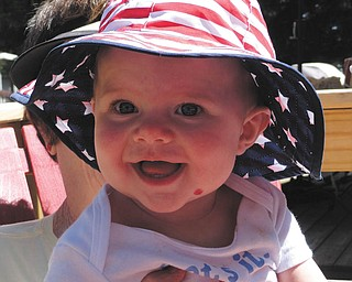 Julia Putko of Boardman, daughter of Jim and Casey Putko, is all smiles in her red, white and blue.