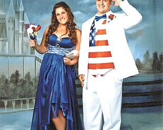 Dominic DeAngelo and Jessica Miller, both of Youngstown, salute America at Cardinal Mooney High School senior prom. Sent by Greg and Maribeth DeAngelo.