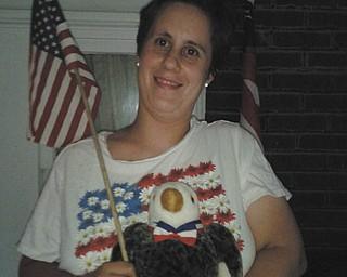 Alison Stanislaw of Lansingville loves her eagle. Taken by Sherry Parent.